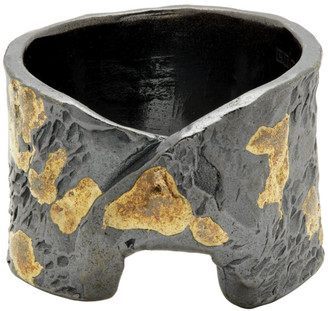 Chin Teo Silver and Gold Stigma Ring