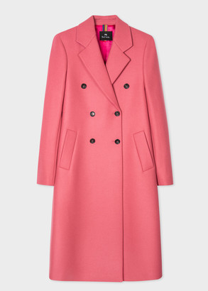 Paul Smith Women's Pink Wool-Cashmere Double-Breasted Coat