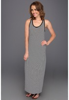 Vince Camuto TWO by Stripe Tank Maxi Dress (Rich Black) - Apparel