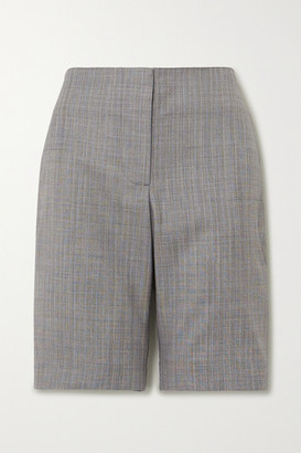 WRIGHT LE CHAPELAIN Herringbone Wool Shorts - Gray