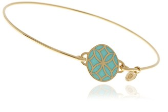 Georgina Jewelry Signature Day Of The Week Limited Edition Bracelet Turquoise Flower Resin Button