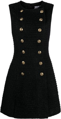 Versace Double Breasted Tweed Dress