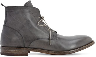 Moma WAXED LEATHER LACE-UP BOOTS
