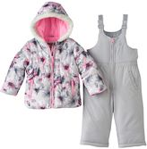 Osh Kosh Baby Girl Print Puffer Jacket & Snow Pants Set