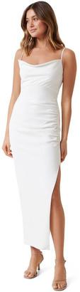 Forever New Linda Crepe Cowl Neck Column Dress