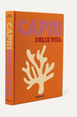 Assouline Capri Dolce Vita By Cesare Cunaccia Hardcover Book - Orange
