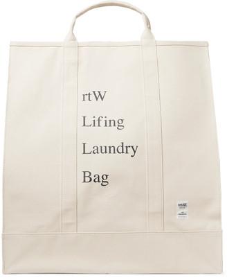 retaW Printed Cotton-Canvas Laundry Bag
