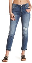 KUT from the Kloth Reese Released Hem Distressed Stretch Ankle Jean
