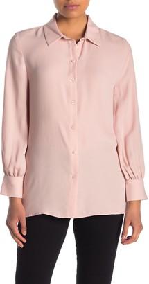 Halogen Long Sleeve Button Front Tunic (Regular & Petite)