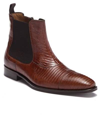 Mezlan Tall Genuine Lizard Skin Boot