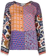 Pierre Louis Mascia Pierre-Louis Mascia patchwork patterned blouse