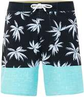 Globe Black, Blue And White Palms And Sea Print Shorts*
