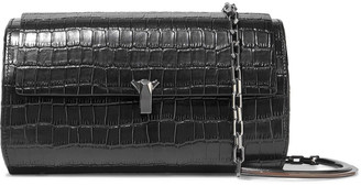THE VOLON Po Trunk Croc-effect Leather Shoulder Bag