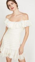 Zimmermann Super Eight Off Shoulder Mini Dress