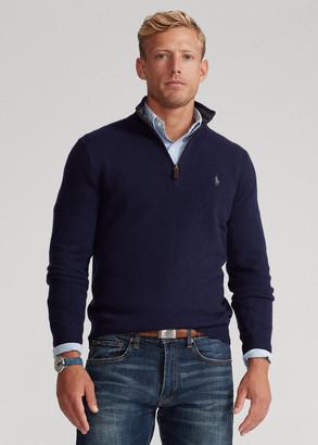 Ralph Lauren Wool-Blend Quarter-Zip Sweater