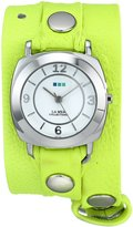 La Mer Women's LMODYREFINERY003 Neon Yellow/Silver Odyssey Watch