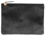 Clare Vivier Supreme Calf Hair Flat Clutch