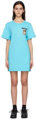 Moschino Blue Inside Out Teddy Bear T-Shirt Dress