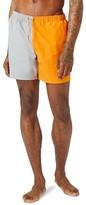 Topman Men's Cut & Sew Swim Trunks