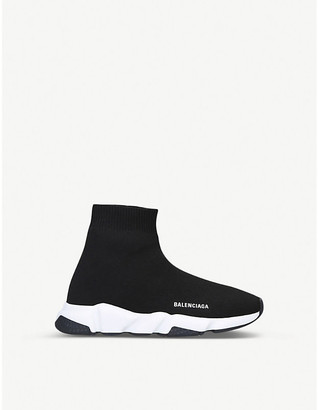 Balenciaga Kids Black Speed Knitted High-Top Trainers, Size: EUR 25 /7.5 UK KIDS