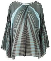 Amanda Wakeley Beam Aqua & Ebony Kimono Top