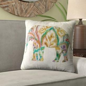World Menagerie Lorine 'Boho Paisley Elephant' Velvet Throw Pillow