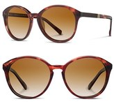 Shwood Women's 'Bailey' 53Mm Polarized Sunglasses - Black/ Ebony/ Grey Fade Polar
