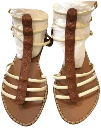 Louis Vuitton Camel Leather Sandals