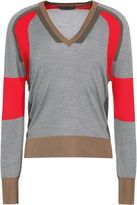 Belstaff Holmes Color-Block Ribbed Silk Sweater