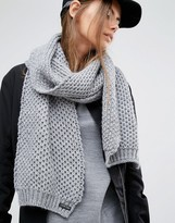 Calvin Klein Knitted Gray Scarf
