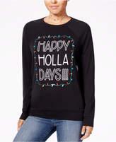 Pretty Rebellious Juniors' Happy Holla Days Graphic Sweatshirt