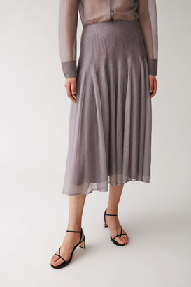 Cos Knitted Layered Skirt