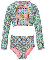 Gossip Girls' Star Crossed L/S Rashguard Set (7yrs16yrs) - 8138143