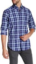 Tailorbyrd Navy Long Sleeve Woven Plaid Shirt