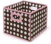 Badger Basket Brown Polka Dot Folding Storage Baskets (Pack of 3)