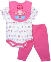 Bon Bebe Baby-Girls Newborn Too Cute 3 Piece Pant