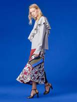 Diane von Furstenberg Bias Draped Paneled Skirt