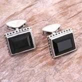 Onyx cufflinks, 'Solemn Elegance'