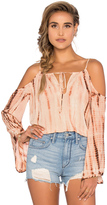 Blue Life Cold Shoulder Top