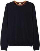Paul Smith Navy Fine-knit Wool Jumper