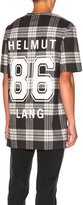 Helmut Lang Oversized Varsity Tee in Onyx Black