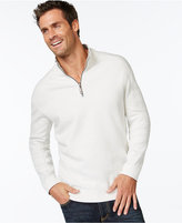 Tommy Bahama Men's Big and Tall Flip Side Reversible Zip Neck Sweater