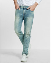 Express slim fit rocco stone washed slim leg jean