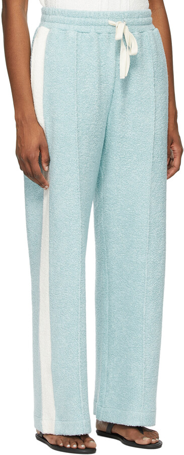 Thumbnail for your product : Casablanca SSENSE Exclusive Blue Terry Flared Lounge Pants