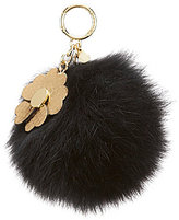 MICHAEL Michael Kors Large Fur & Flower Pom Pom Key Chain