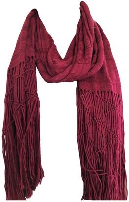 Isabel Marant Burgundy Wool Scarves