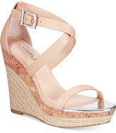 Charles by Charles David Aden Espadrille Platfrom Wedge Sandals