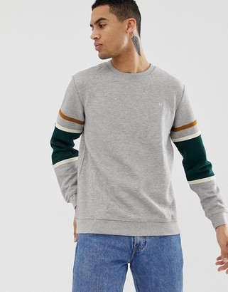 Hymn Quilted Sweatshirt With Panel Sleeve