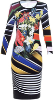 Mary Katrantzou Stripe Bouquet-print jersey dress