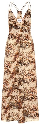 Nanushka Eden printed cotton slip dress
